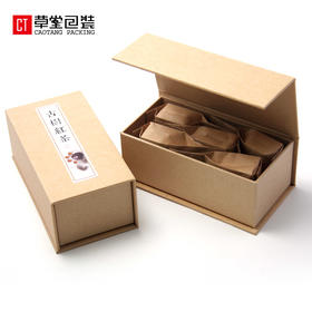 环保牛皮纸茶叶罐盒无字通用可贴普洱古树滇红福鼎白茶草堂包装