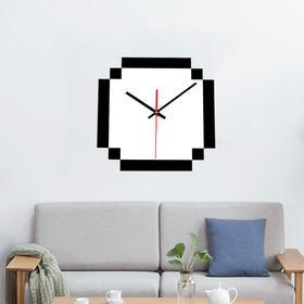 北欧简单创意diy挂钟 亚克力像素白时钟表指针现货