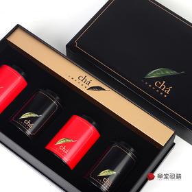cha一片树叶的故事通用茶叶包装盒四小罐装绿茶黑茶红茶高档