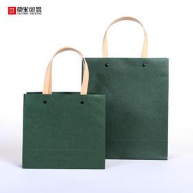 牛皮纸袋手提袋纸袋定做绿色袋批发饰品袋包装纸袋子服装袋现货