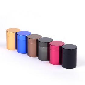 钛合金茶叶罐金属罐迷你茶罐小密封茶叶罐便携旅行专用茶罐草堂