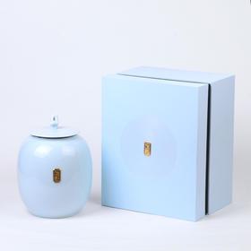 礼记粉青大龙泉青瓷罐通用绿茶龙井普洱滇红茶大气空包装盒草堂