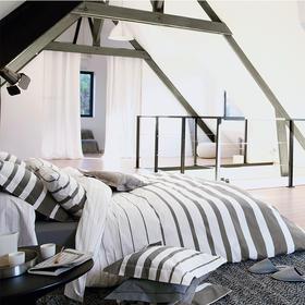法国原产BLANC DES VOSGES精梳棉密织四件套(礼盒装) 白色/银色