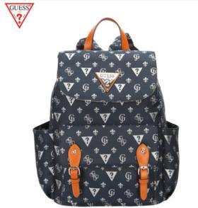 【带父母去旅行】GUESS包包新款女士双肩包背包时尚印花牛仔大容量潮包女字母包