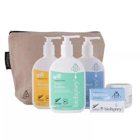 Biohoney婴儿洗护5件套(送环保亚麻袋)【新西兰直邮】