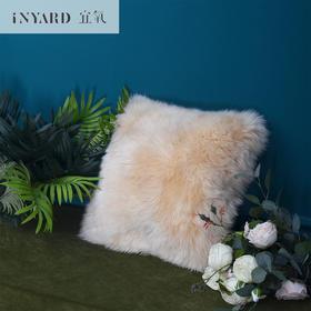 [InYard宜氧]咩咩抱枕/100%纯羊毛双面/沙发抱枕舒适柔软靠垫居家