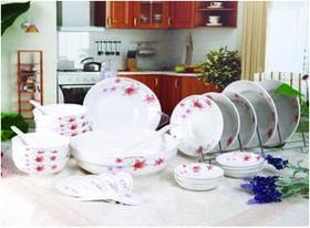 冠福30头中餐具砧板筷子组合装