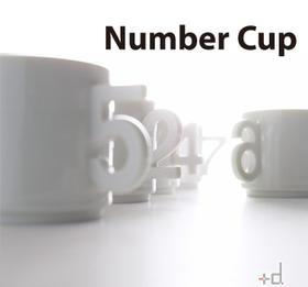 <plus d> 可爱数字杯 0-9 白色陶瓷杯 十款可选