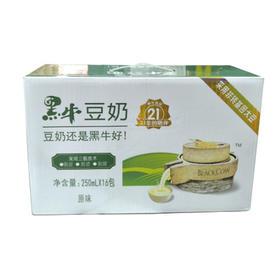 黑牛豆奶250ml*12盒/件