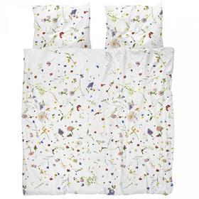 Snurk花卉全棉被套双人被罩枕套200*230cm (Snurk FlowerFields Bed Linen Set 200*230cm)