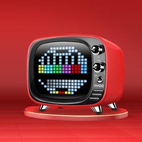 能打游戏做动画的像素音箱,divoom Tivoo无线蓝牙闹钟便携音响
