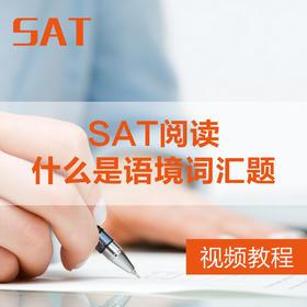 【视频】SAT阅读-什么是语境词汇题-录播课程
