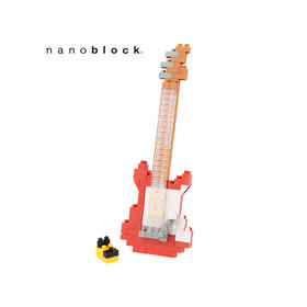 日本NANOBLOCK益智拼装积木玩具  电吉他