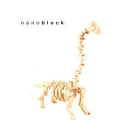 日本NANOBLOCK益智拼装积木玩具  腕龙骨架