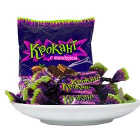 俄罗斯进口紫皮糖夹心巧克力500g/袋