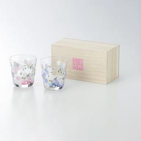 【宇野千代・花笑】玻璃杯2只装