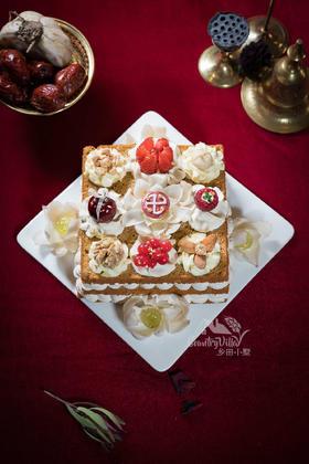 八吉祥 红枣裸蛋糕