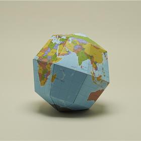 地球科学馆 组合式地球仪 纸质手工拼装地球仪 六款可选