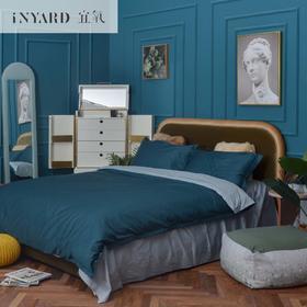 [InYard宜氧]卧室-主流以外/绵柔穿衣镜/AB面乳胶床垫/大白丝绒床