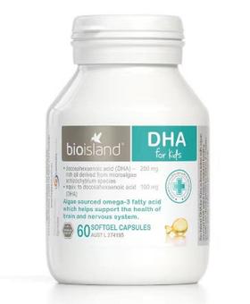 Bio Island 天然婴幼儿DHA   脑黄金 60粒