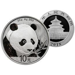 【熊猫币】2018年熊猫30克银币·中国人民银行发行