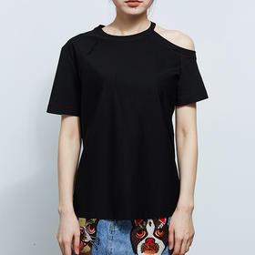 不对称露肩T恤   预售  3月23日后发货