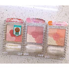 日本 Canmake井田 花瓣雕刻五色胭脂腮红 高光修容 珠光/哑光