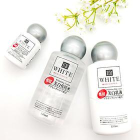 「脸蛋打过光般细嫩透亮」日本DAISO/大创ER胎盘素淡斑化妆水+美白乳+精华套装
