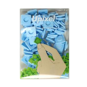 顽意24色{大号}背包拼图像素方块四方帽创意个性DIY图案80颗粒装