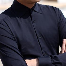 男士新款一片领针织面料衬衫型T恤衫