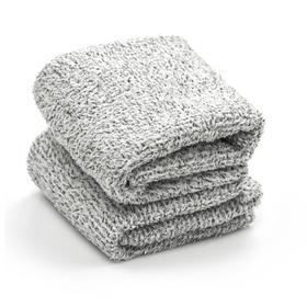 【竹炭微纤维 吸附脏污】台湾进口 UdiLife 长毛绒竹炭擦拭巾 2条装 吸水快速 不易脱毛
