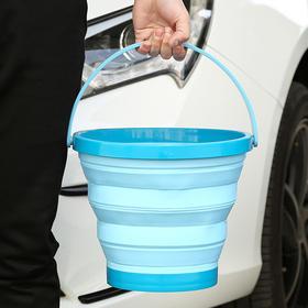 日本进口 折叠水桶 车载户外旅行野营 脸盆 便携洗车桶