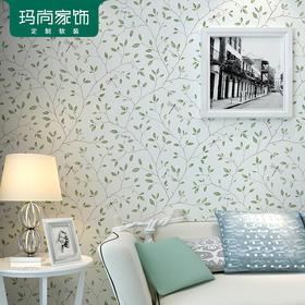 玛尚清新小树枝叶壁纸浪漫现代简约卧室客厅电视背景墙
