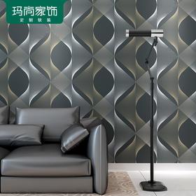 M玛尚壁纸 个性现代流光造型壁纸 无纺布电视背景墙墙纸 YCLG