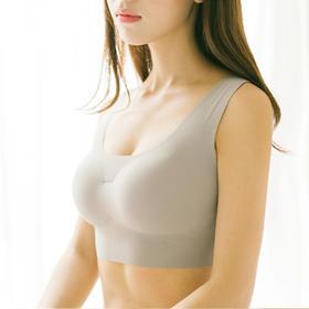 【送价值59元内裤 和 天鹅绒连裤袜】 出口日本 AYAKA SAR 无痕无钢圈内衣,一片式超舒适裸感睡眠文胸内裤套装,如同没穿内衣般的舒适,女人必备。