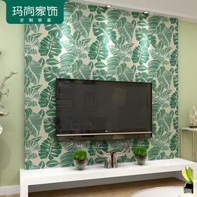 M玛尚壁纸 简约现代树叶无纺布壁纸 客厅卧室床头背景墙墙纸KMY