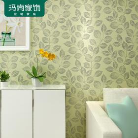 M玛尚现代简约风格墙纸 树叶子卧室满铺温馨客厅电视背景墙 NC