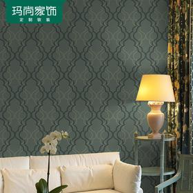 M玛尚壁纸 环保透气无纺布墙纸 中式素雅客厅卧室背景墙壁纸AGS