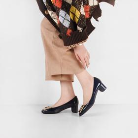 【品质之选】法国Elizabeth Stuart 方扣 4.5cm圆形粗跟 优雅情结复古单鞋 ESHZ17004 超INS 4色经典