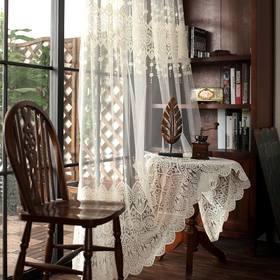 艾美丽  欧式高档刺绣窗纱