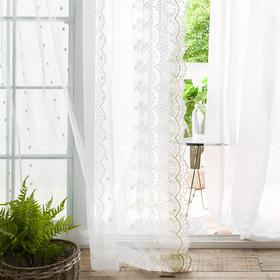【星罗】田园网纱刺绣窗纱帘