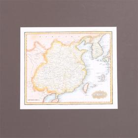 【菲集】艺术品 1825年出版于波士顿的中国古代地图 轻古董 收藏品