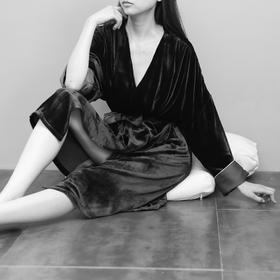 丝绒睡袍套装