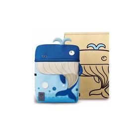 韩国BEDDYBEAR杯具熊儿童宠物书包 蓝色海鲸