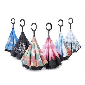 【再也不怕湿身了】第三代创意双层反向伞 免持式可站立 轻松上下车 避免雨水淋湿内饰