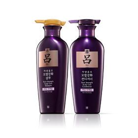 吕(紫) 滋养韧发密集强韧洗护套组 强韧盈亮不惧油头  400mL*2瓶