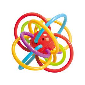谷雨牙胶摇铃玩具曼哈顿球 宝宝磨牙棒