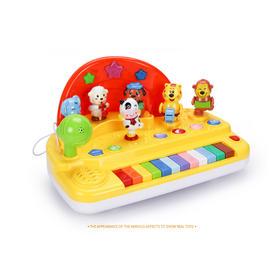 益智玩具top榜 谷雨电子琴带麦克风多功能八音琴欢乐动物琴