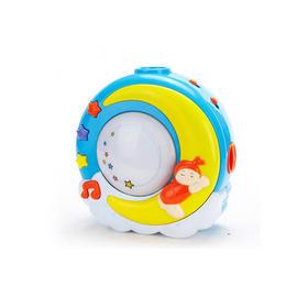 谷雨婴儿安抚玩具带小夜灯音乐月亮投影仪0-1岁