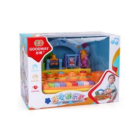 谷雨电子琴玩具带麦克风多功能彩虹摇乐琴1-3岁适用